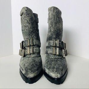 Alexander Wang grey heel boots size 38